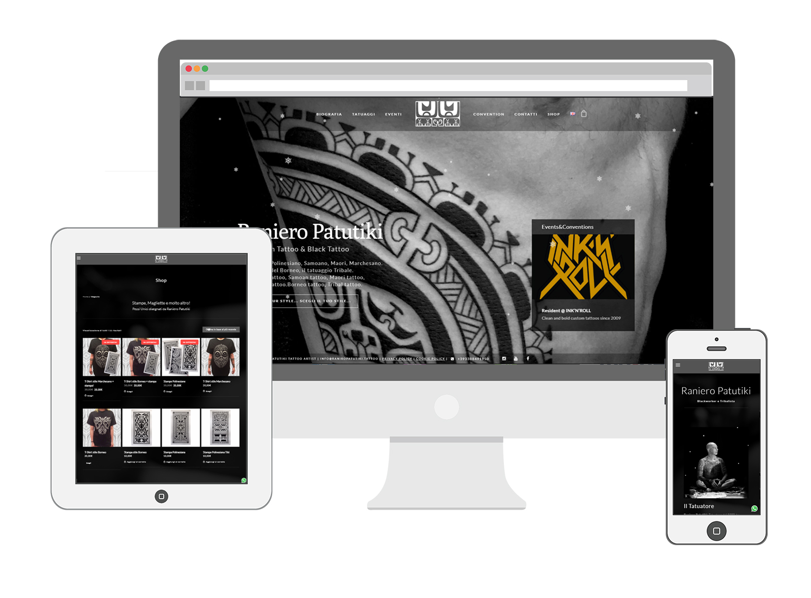 Sito web – Raniero Patutiki