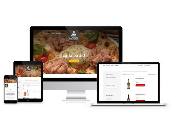 Sito web Pizzeria La Talpa